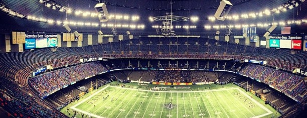 Mercedes-Benz Superdome is one of dos....