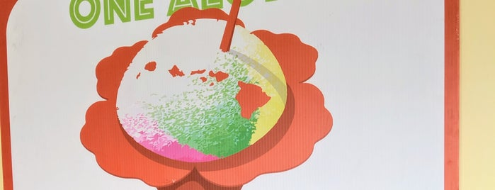 One Aloha Shave Ice is one of สถานที่ที่ Maggie ถูกใจ.
