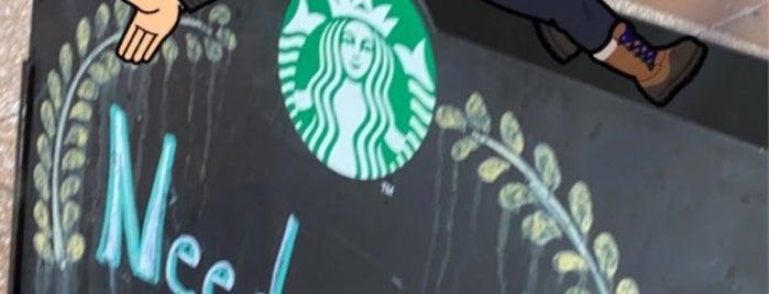 Starbucks is one of Orte, die Sandy gefallen.