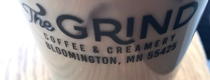 The Grind Coffee & Creamery is one of Lieux qui ont plu à Kristen.