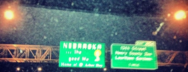 IA/NE Border - Interstate I80 is one of NEBRASKA.