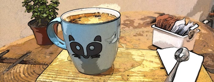Raccoon Café is one of Angie 님이 좋아한 장소.