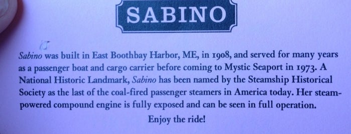 Steamboat Sabino is one of Mystic, CT.