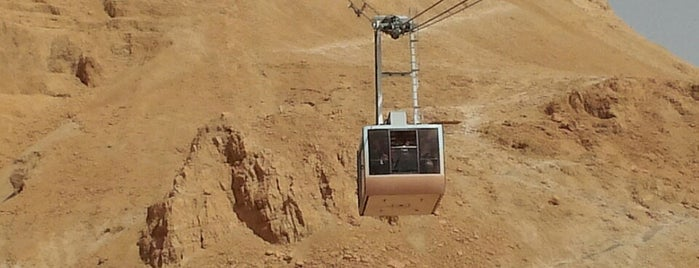 Masada Cable Car Station is one of Lieux qui ont plu à Carl.