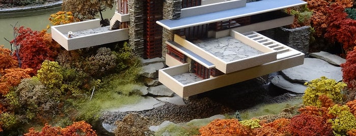 Fallingwater is one of Frank Lloyd Wright: Cross-Country Tour.