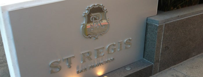 The St. Regis San Francisco is one of San Francisco.