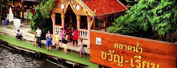 Kwan-Riam Floating Market is one of Talerngsak 님이 좋아한 장소.