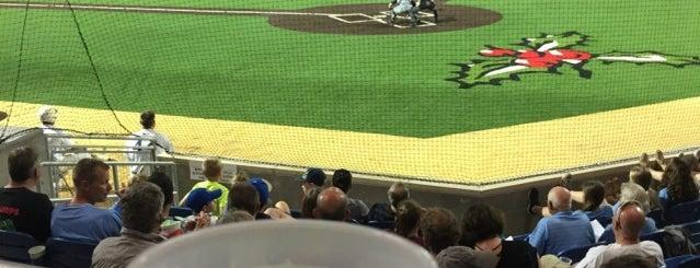 Holly Springs Salamanders Ballpark is one of Tempat yang Disukai James.