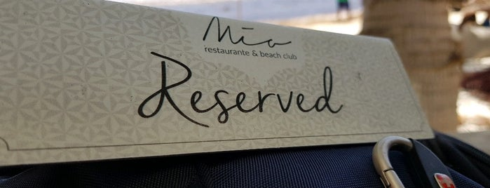 Mia Restaurant & Beach Club is one of Locais curtidos por Karla.