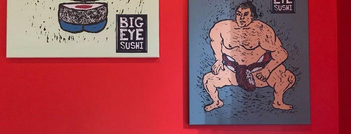 Bigeye Sushi is one of Wyatt's place.