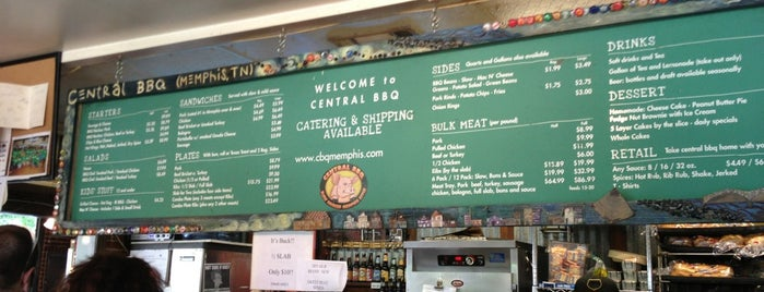 Central BBQ is one of Memphis.