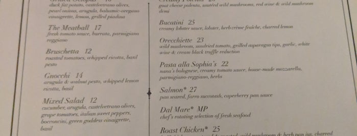 Sophia's is one of Italian.