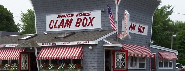 The Clam Box is one of Diners Drive-Ins and Dives & Roadfood.
