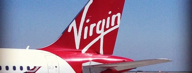 Virgin America is one of Aeroporto.