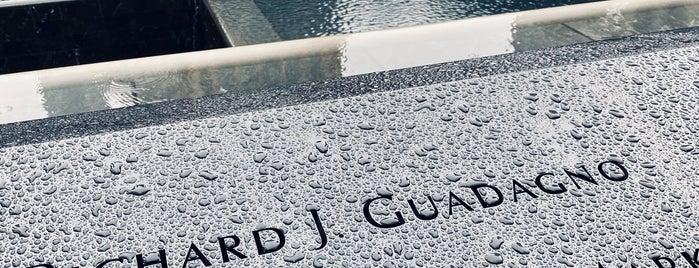 9/11 Memorial South Pool is one of สถานที่ที่ Laetitia ถูกใจ.