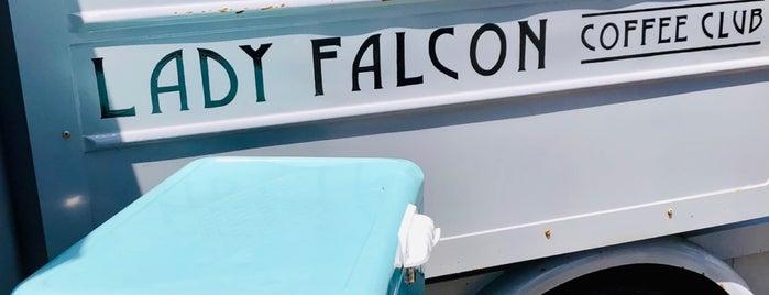 Lady Falcon Coffee Club is one of San Francisco Caffeine Crawl.