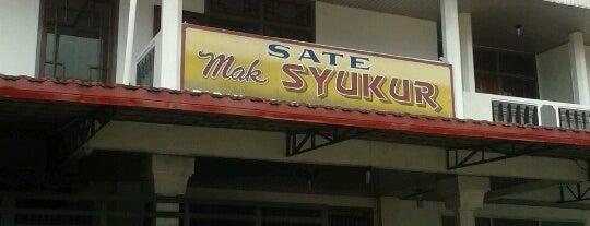 Sate Mak Syukur is one of Tempat yang Disimpan Fadlul.