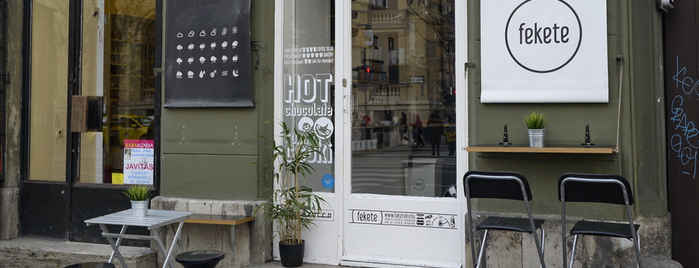 fekete is one of Budapest's speciality coffee shops (2015).