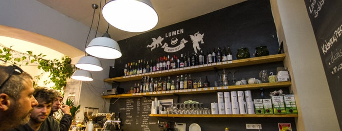 Lumen Kávézó is one of Budapest's speciality coffee shops (2015).