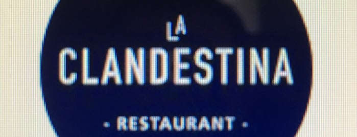 La Clandestina is one of Restaurants i Bars.