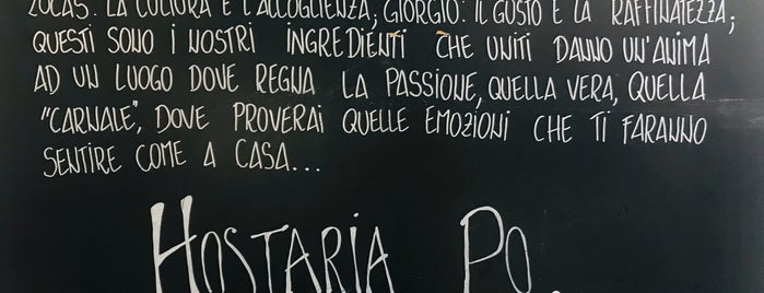 Hostaria Po is one of My lovely places.