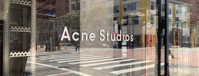 Acne Studios is one of LA.