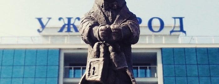 Скульптура «Гаррі Гудіні» / Harry Houdini statue is one of Міні-скульптури. УЖГОРОД!.