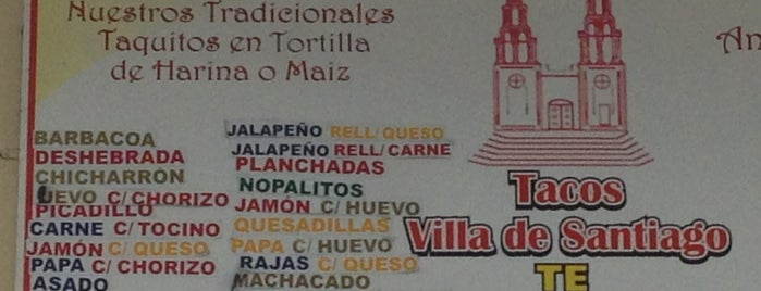 Tacos Villa de Santiago is one of Ismaelさんのお気に入りスポット.