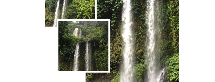 Sendang Gile Waterfall, Rinjani Mountain is one of Hehe.