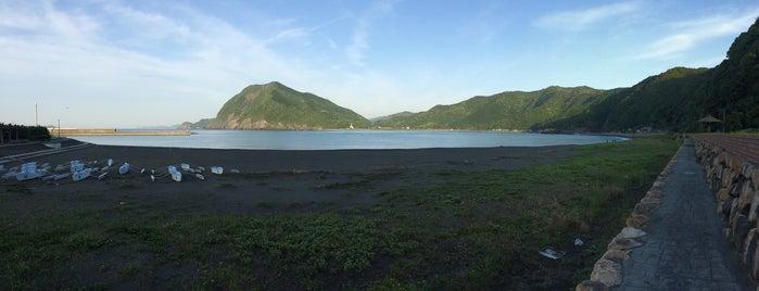 元猿海岸 is one of 日本の渚百選.