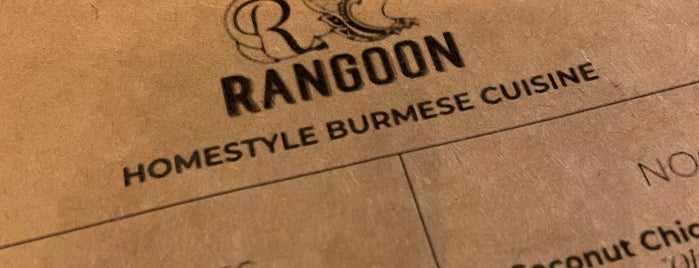 Rangoon is one of Brooklyn stuff.