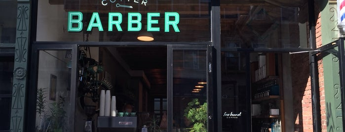 Cotter Barbershop is one of Chill Brooklyn Patio Spaces.
