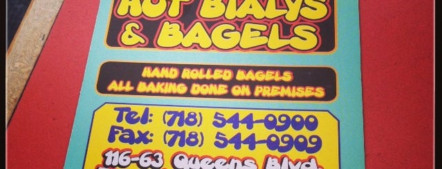 Hot Bialys Bagel is one of Locais curtidos por Greg.