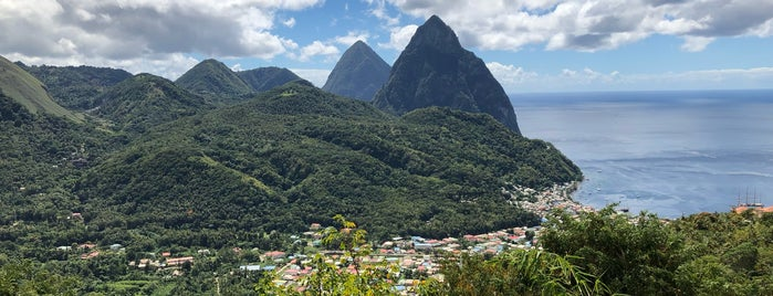 Petit Piton is one of St. Lucia.