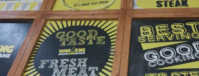 Waroeng Steak & Shake is one of Tempat yang Disukai Winda.