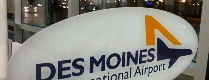Des Moines International Airport (DSM) is one of Iowa.