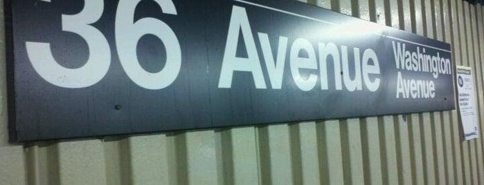 MTA Subway - 36th Ave (N/W) is one of Lieux qui ont plu à lauren.