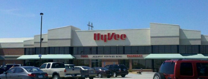 Hy-Vee is one of West Des Moines.