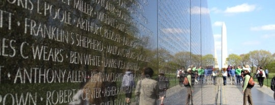 Vietnam Veterans Memorial is one of DC Favorites.
