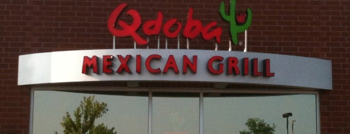 Qdoba Mexican Grill is one of Tempat yang Disukai George.