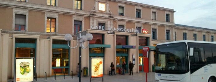 Gare SNCF d'Angoulême is one of Railway stations visited.