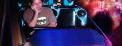Space Mountain is one of Disneyland: The Happiest Place on Earth.