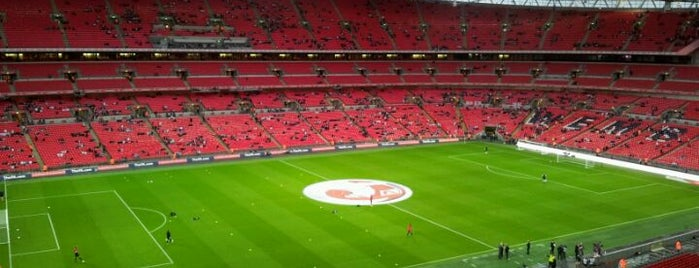 Wembley Stadium is one of London.