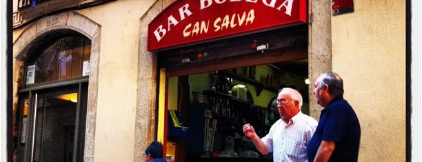 Bodega Can Salva is one of Tapeo en Barcelona.