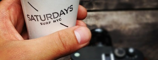 Saturdays Surf NYC is one of Percolate's Favorite NYC Coffee Shops.