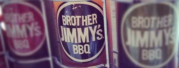 Brother Jimmy's BBQ is one of Tempat yang Disukai Mark.