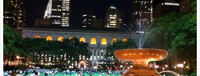 ブライアントパーク is one of NYC.