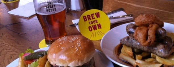 The Draft House is one of Best burgers in London.