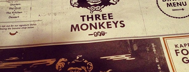 Three Monkeys is one of Foodie in Hong Kong.