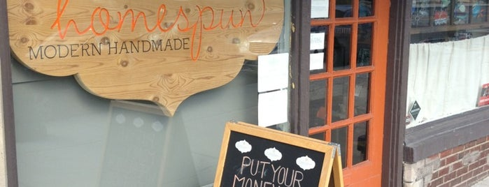 Homespun : Modern Handmade is one of Ben's Saved Places.